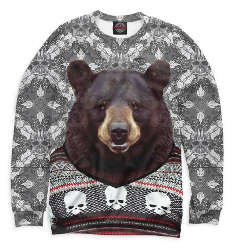Женский свитшот Медведь в свитере