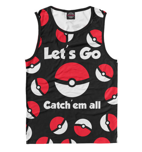 Майка Print Bar Let's Go! худи print bar pokemon go valor team