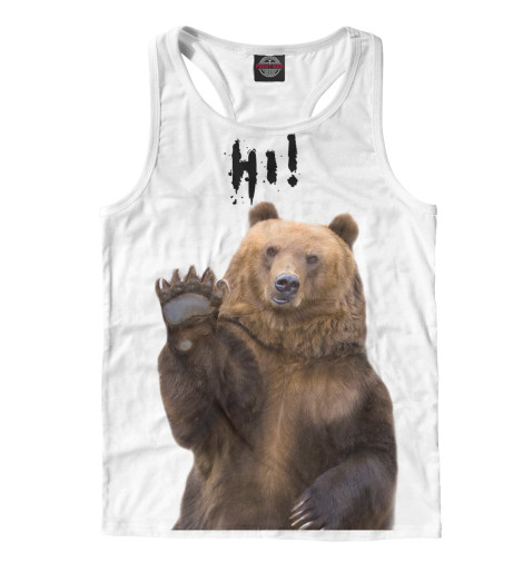 Майка борцовка Print Bar Русский медведь майка борцовка print bar русский стиль
