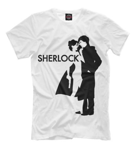 Футболка Print Bar Шерлок - Sherlock майка классическая printio шерлок холмс sherlock