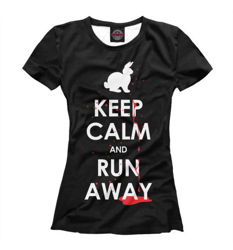 Футболка Print Bar Keep Calm & Run Away футболка wearcraft premium slim fit printio keep calm art