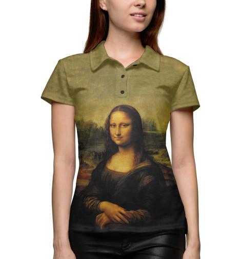 Поло Print Bar Мона Лиза Джоконда кому улыбается джоконда