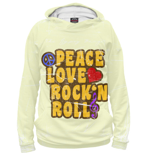 Худи Print Bar Peace, Love, Rock*n roll