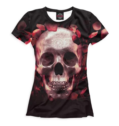 Фото - Женская футболка Череп от Print Bar белого цвета