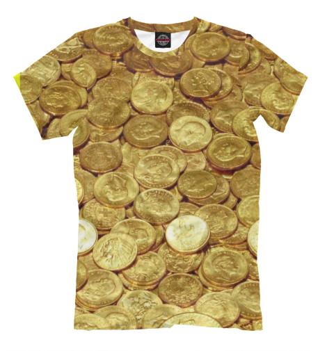 Футболка Print Bar Золотые монеты монеты в сургуте я продаю