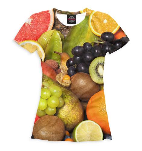 Женская футболка Фрукты и ягоды