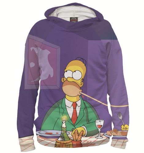 Мужское худи Гомер и Мардж