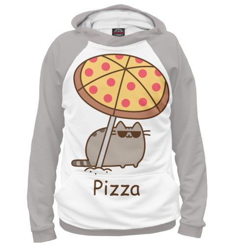 Фото - Женское худи Pizza от Print Bar белого цвета