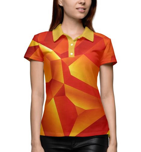 Купить Поло для девочки Orange Abstract ABS-263361-pol-1