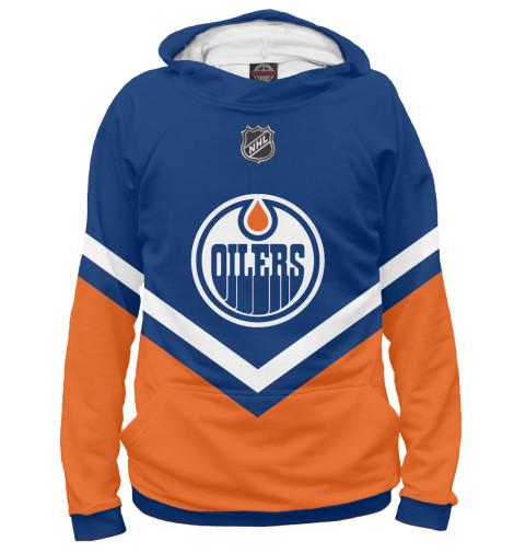 Фото - Женское худи Edmonton Oilers от Print Bar белого цвета
