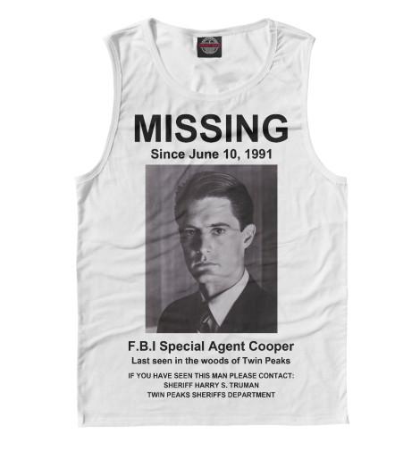 Майка Print Bar Agent Cooper Missing girl missing