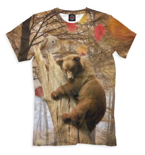 Мужская футболка Медведь на дереве