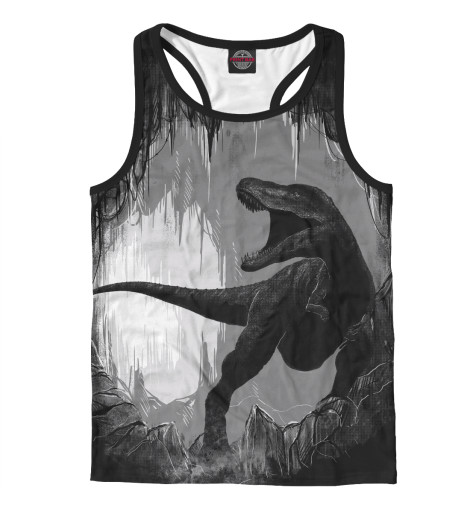 Майка борцовка Print Bar Пещера динозавра цена 2017