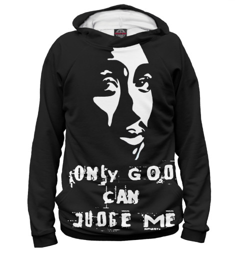 Худи Print Bar Only God Can Judge Me футболка wearcraft premium printio only doge can judge me