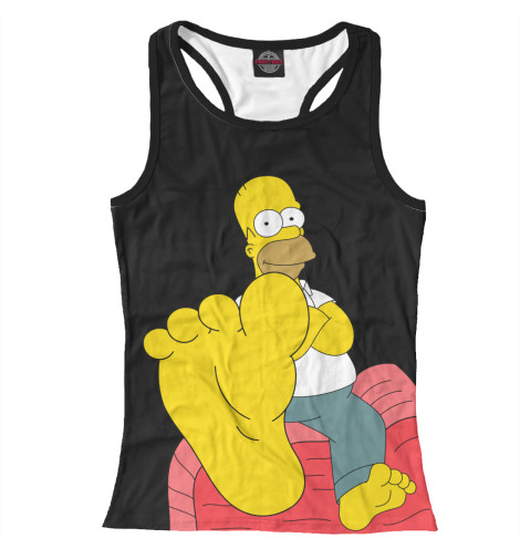 Майка борцовка Print Bar Homer Simpson худи print bar homer logan