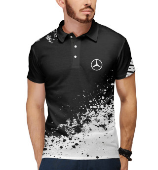 Мужское поло Mercedes-Benz abstract sport uniform