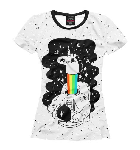 Футболка Print Bar Единорог астронавт футболка print bar астронавт в огне