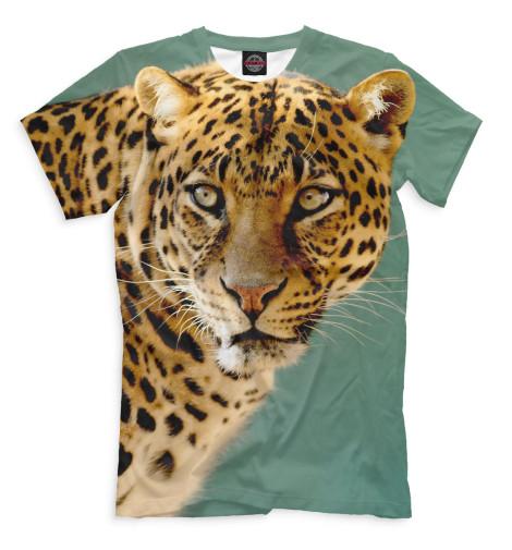 Мужская футболка Леопард