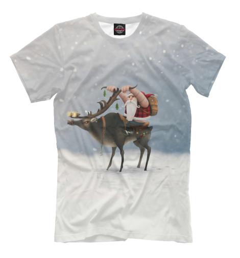 Купить Мужская футболка Дед Мороз-байкер NOV-763626-fut-2