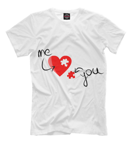 Футболка Print Bar Me love You love худи print bar me love you love