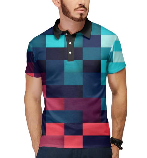 Поло Print Bar Pixel color