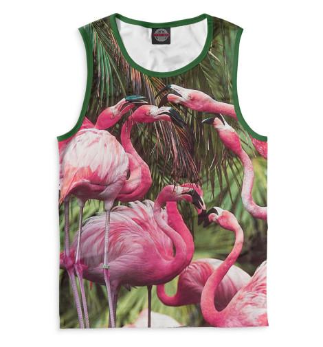 Мужская майка Розовые фламинго