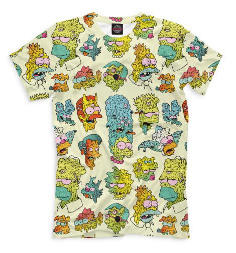 Мужская футболка Монстро-Симпсоны