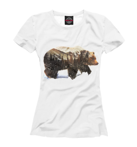 Футболка Print Bar Медведь футболка print bar в лесу