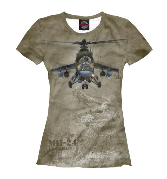 Купить Футболка для девочек Вертолет Ми-24 «Крокодил» VVS-867412-fut-1