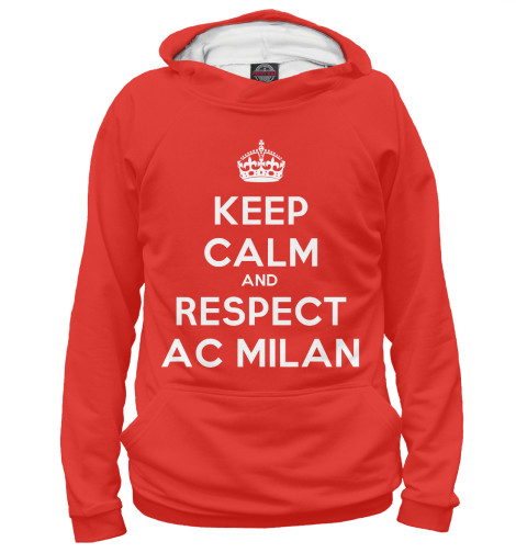 цена Худи Print Bar Respect AC Milan онлайн в 2017 году