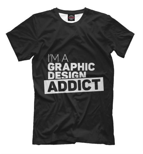 Футболка Print Bar Graphic design addict graphic print fit