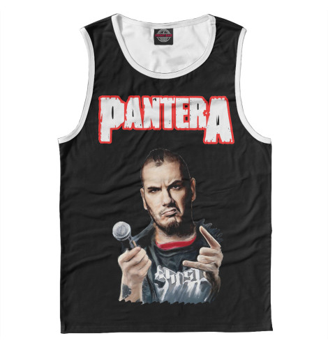 Майка Print Bar Pantera Phil Anselmo футболка print bar pantera mouth for war