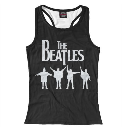 Фото - Женская майка-борцовка The Beatles от Print Bar белого цвета