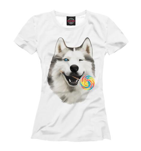 Футболка Print Bar Хаски сладкоежка как уговорить маму собаку хаски