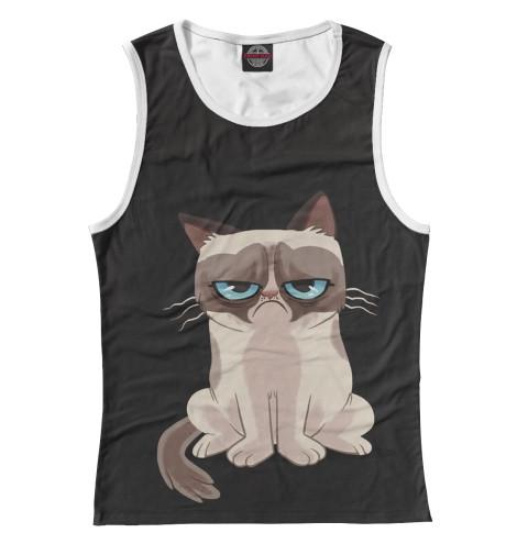 Майка Print Bar Грустный котик