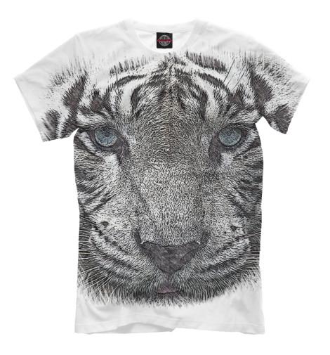 Футболка Print Bar Белый тигр тигр лежащий t2021k o