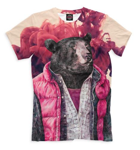 где купить  Футболка Print Bar Медведь в жилетке  по лучшей цене