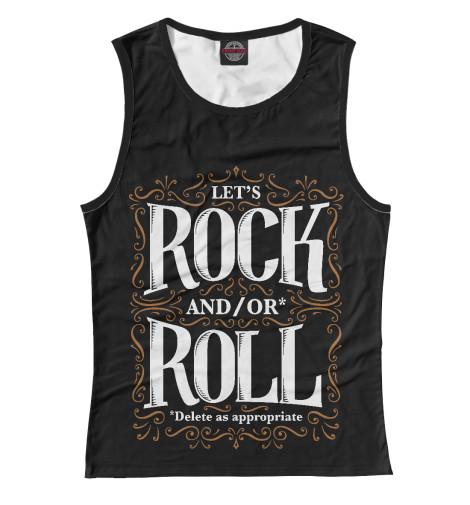 Майка Print Bar Lets Rock майка борцовка print bar lets rock