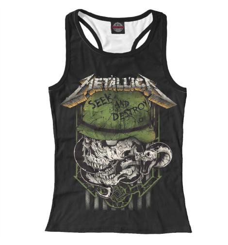 Майка борцовка Print Bar Metallica Seek and Destroy майка классическая printio i love metallica