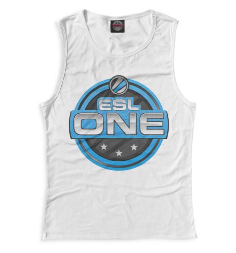Женская майка ESL One Logo White