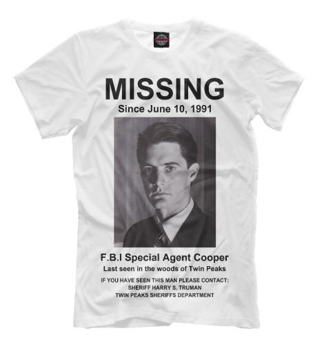 Футболка Print Bar Agent Cooper Missing girl missing