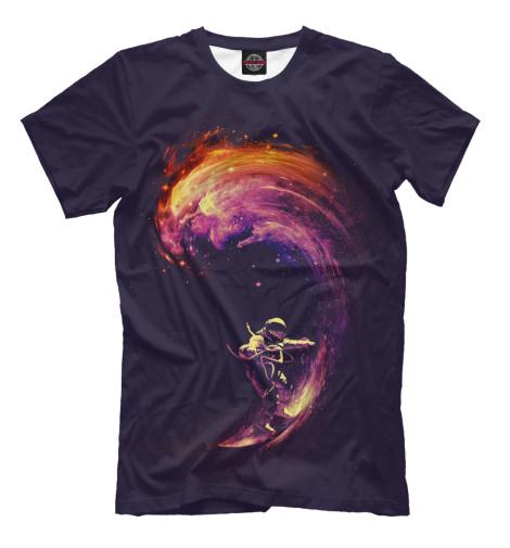 Фото - Мужская футболка Space Surfing от Print Bar белого цвета