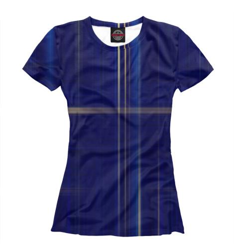 Фото - Женская футболка Blue от Print Bar белого цвета