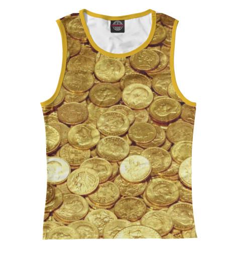 Майка Print Bar Золотые монеты монеты в сургуте я продаю