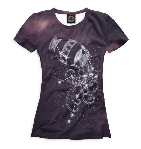 Женская футболка Водолей
