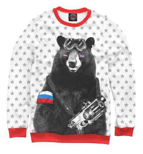 Свитшот Print Bar Армейский медведь