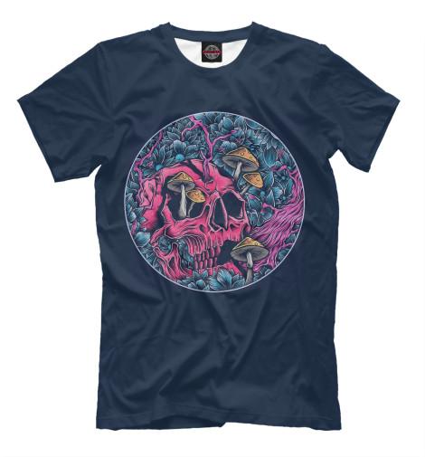 Купить Мужская футболка Череп грибы DAR-433313-fut-2