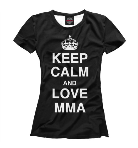 Футболка Print Bar Keep Calm And Love MMA футболка wearcraft premium printio keep calm and play pokemon