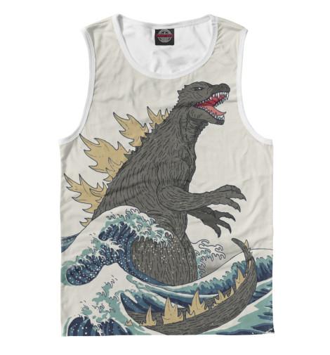 Майка Print Bar Godzilla футболка классическая printio godzilla white