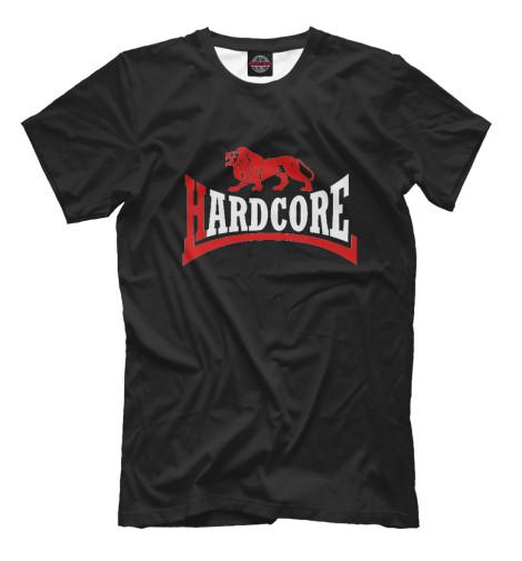Купить Мужская футболка Hard Core Lion Black MZK-199310-fut-2